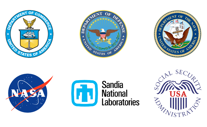 Logos of the agencies already realizing the benefits and savings of deploying the Enterprise Agreement Platform.