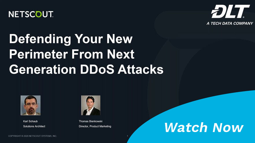 Watch the NETSCOUT DDoS webinar