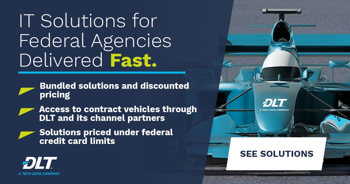 FFYE 2020. Text Reads: IT Solutions for federal agencies delivered fast.