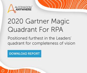 Automation Anywhere 2020 Gartner Magic Quadrant Report