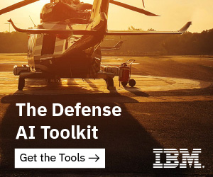 Military Helicopter on pad. Text reads: The Defense AI Toolkit