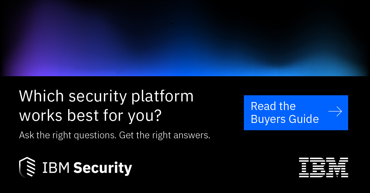 White text on a black background. Text reads: Which Security Platform Works Best for You? Ask the Right Questions. Get the Right Answers.