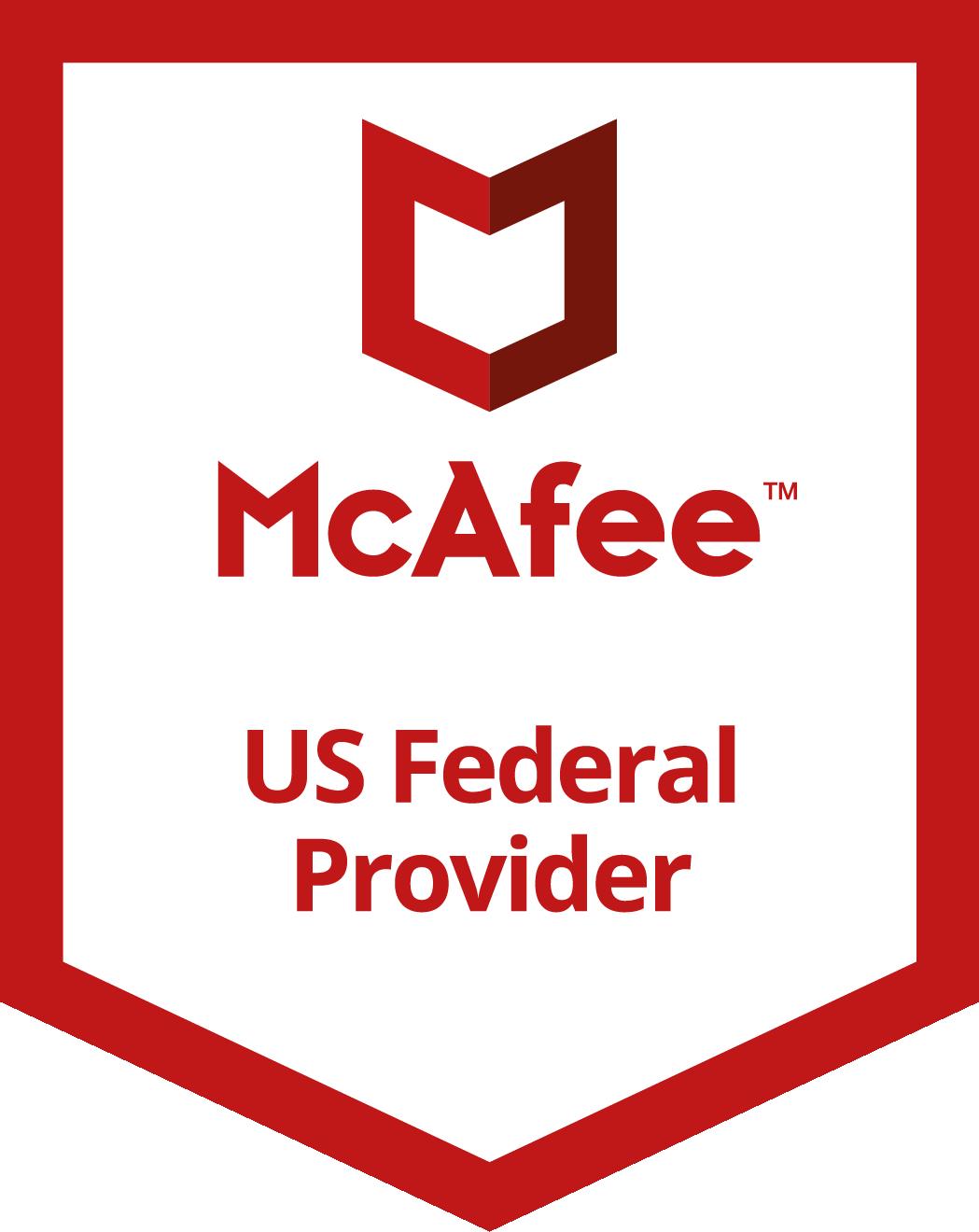 McAfee U.S. Federal Provider Badge