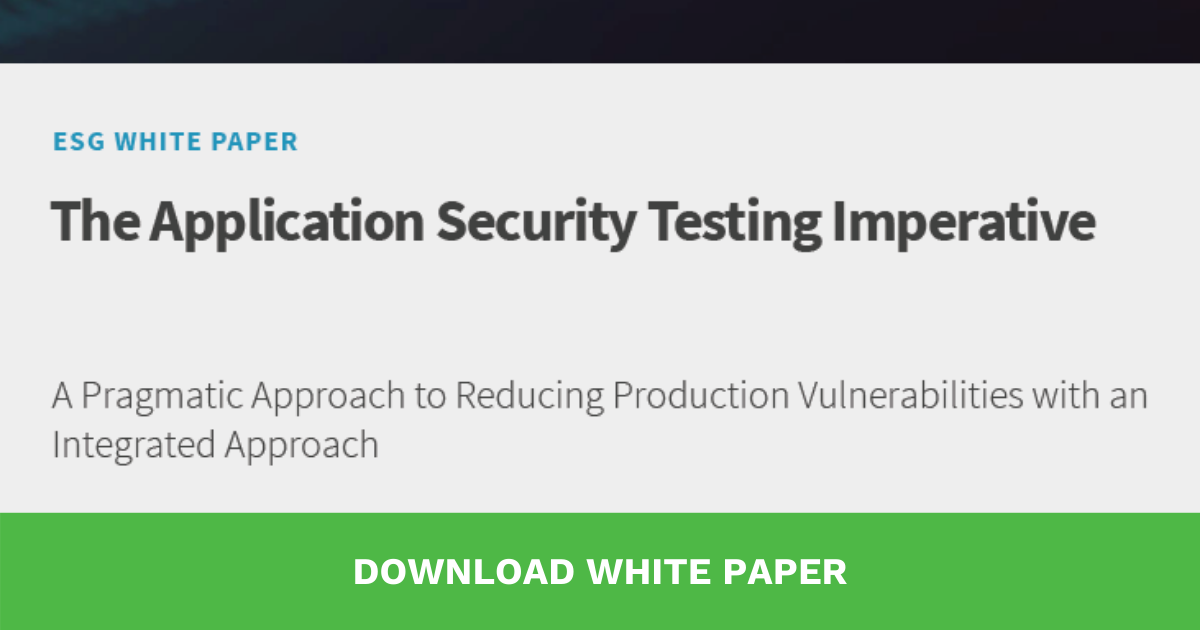 The Application Security Testing Imperative