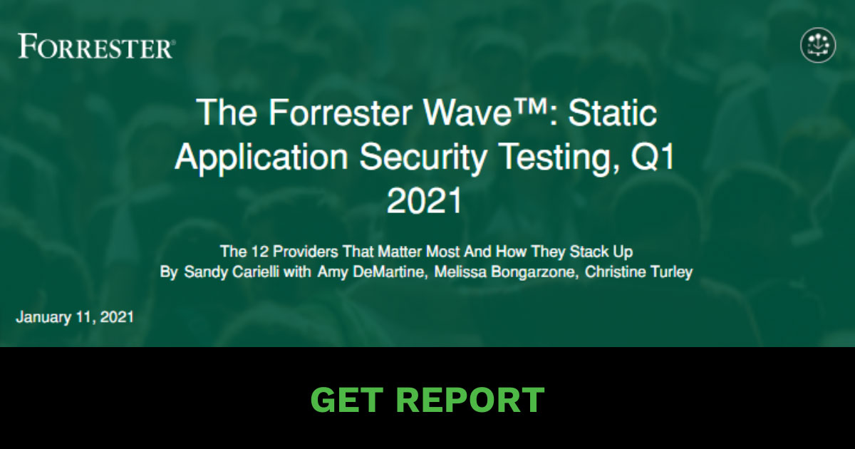 The Forrester Wave™: Static Application Security Testing, Q1 2021