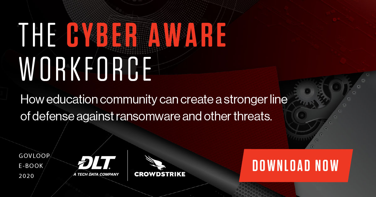 White text on black background. Text reads: The Cyber Aware Workforce. Download Now