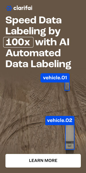 Text reads: Speed Data labeling by 100x with AI Automated data labeling