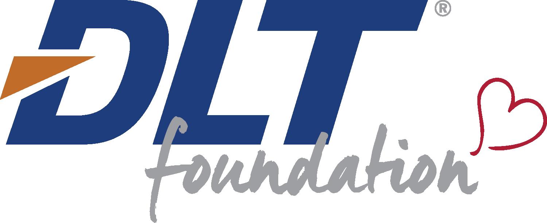 Blue and orange logo for the DLT Foundation