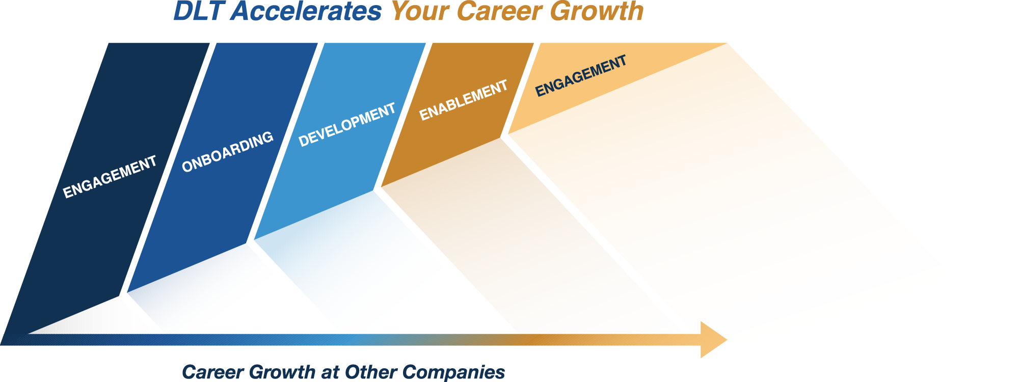 Graph displaying career growth at DLT