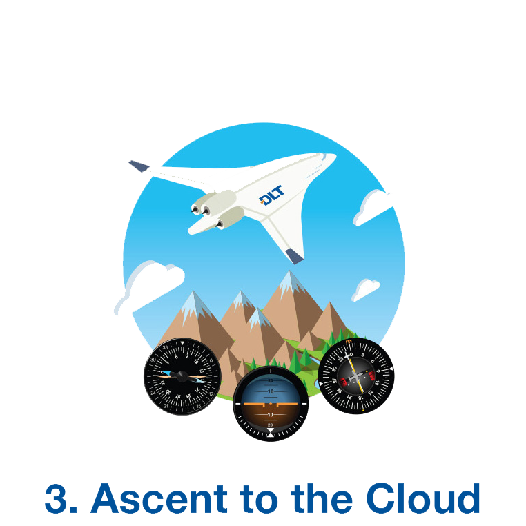 graphic of a plane ascending