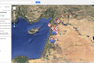 Potential Syrian Missile Targets Pinpointed in Google Earth
