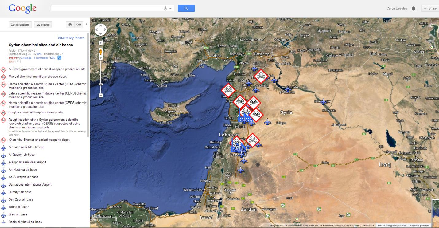 Potential Syrian Missile Targets Pinpointed in Google Earth ... on nintendo headquarters map, microsoft corporate headquarters map, facebook headquarters map, apple headquarters map, cia headquarters map, oracle headquarters map, allstate headquarters map, symantec headquarters map, qualcomm headquarters map, groupon headquarters map, nasa headquarters map, sony headquarters map, walmart headquarters map, google earth florida usa, nike headquarters map, google corporate office, 3m headquarters map, dell headquarters map, epic headquarters map,