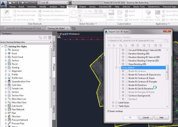 How to Import Civil 3D Styles and Settings - DLT Blog