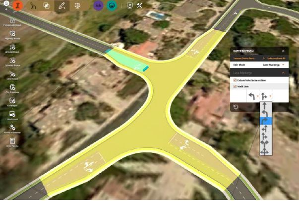 Intersection design enhancements in InfraWorks 360 bring greater flexibility to created more complex designs such as staggered intersections.