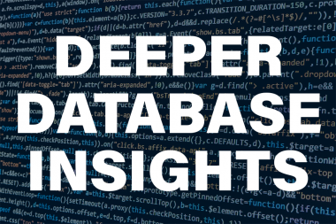 Providing Deeper Database Insights for the Federal IT Manager