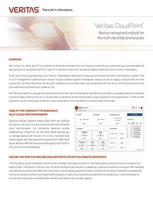 Thumbnail for CloudPoint Data Sheet